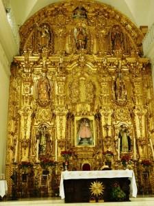 Retablo Interior templo Nuestra Señora del Rosario