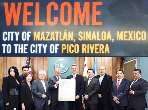 Mazatlán Pico Rivera Estrechan Lazos de Hermanamiento 2016