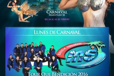 Banda MS en Olas Altas el lunes de Carnaval