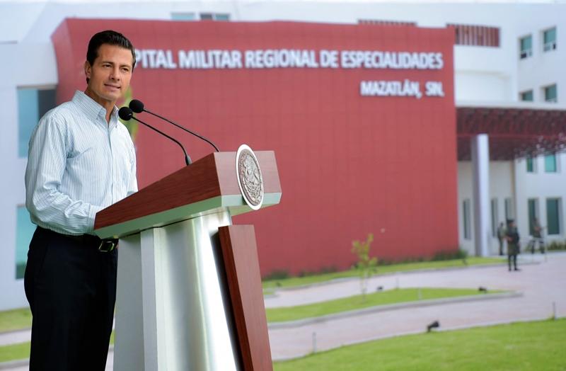 Peña Nieto Inauguración Hosiptal Militar Mazatlán 2016-1