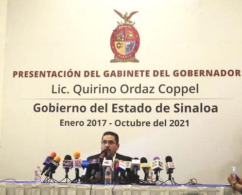 Gabinete Quirino Ordaz Coppel Gobernador Sinaloa 2017 2021