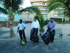 Limpieza Zona Dorada Mazatlán Campaña 2017