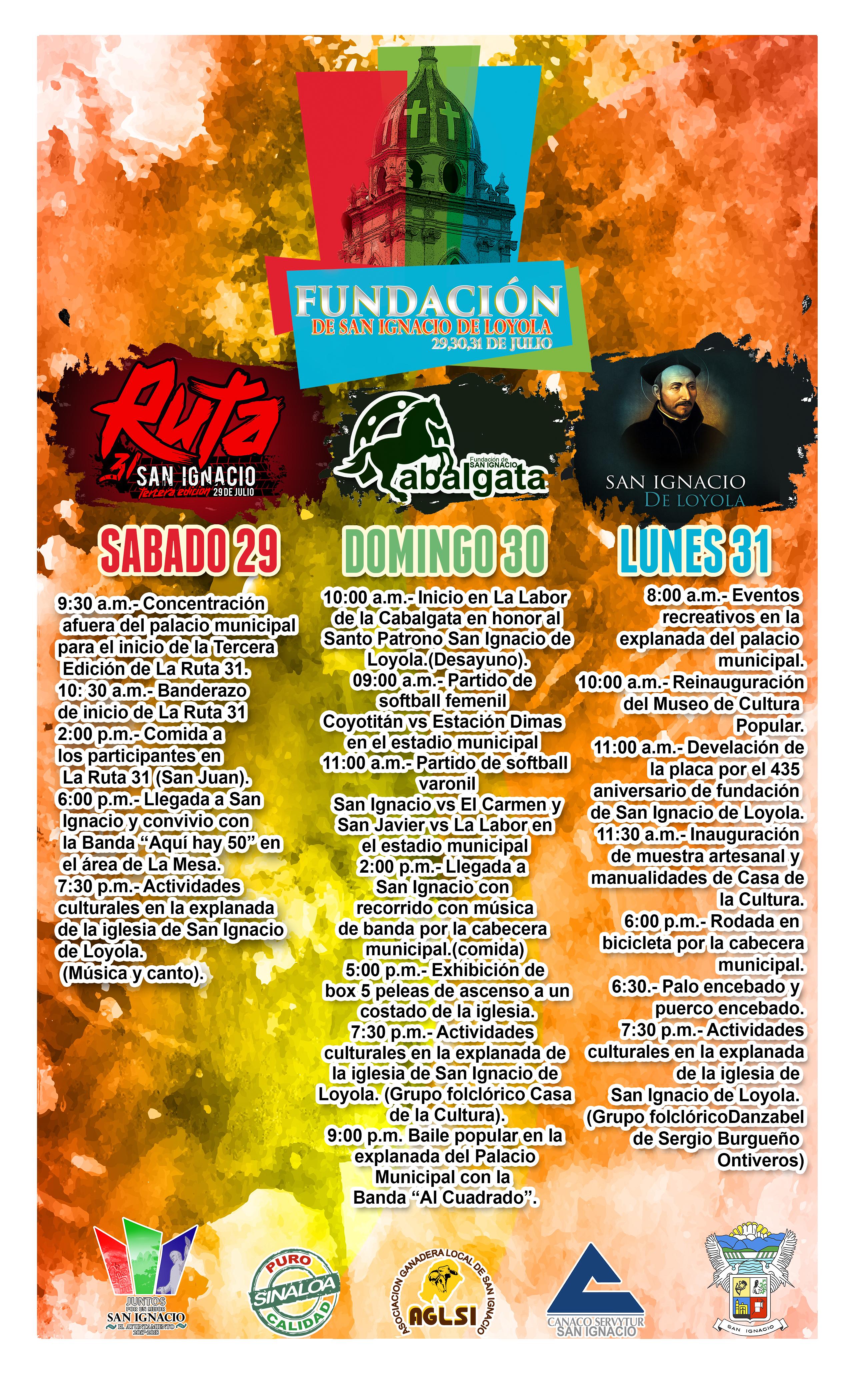 435 aniversario de fundación de San Ignacio