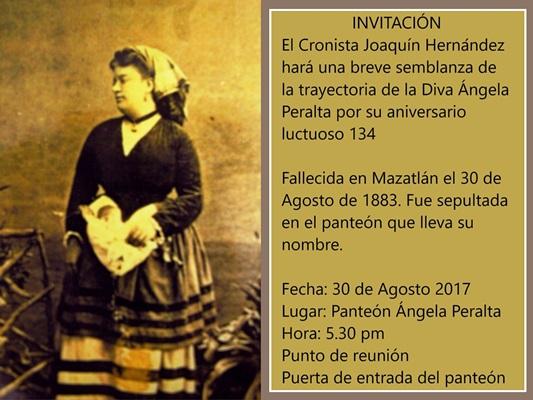 134 Aniversario Luctuoso Ángela Peralta Mazatlán
