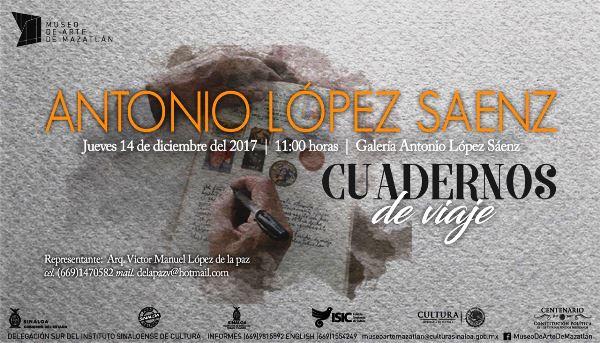 Cuadernos de Viajes Expo Antonio López Sáenz 2017 Mazatlán de Antonio López Sáenz 2017 MA a