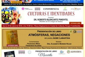 Actividades académicas y culturales en el Colegio de Sinaloa