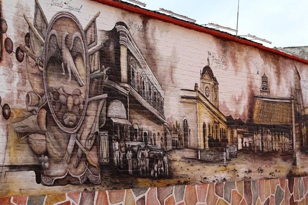 Mural del Comercio El Rosario Pueblo Mágico 2018 2